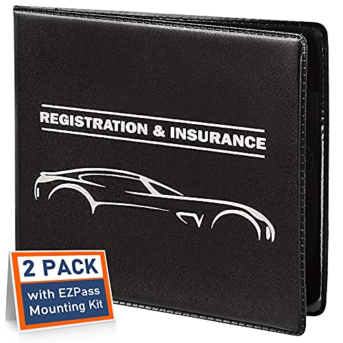 CANOPUS Car Registration and Insurance Holder, Car Document...