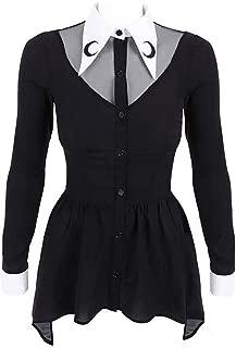 Restyle Gothic Goth Okkult Langarm Top Shirt Oberteil Bluse Scarlett