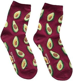 LAANCOO, LAANCOO Un par de Calcetines Unisex de Frutas, Calcetines Marinero interesantes, novedosos Calcetines de algodón Modelo, Calcetines de Aguacate interesantes