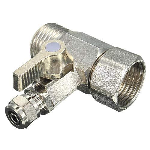 ZXYAN Plata 1/2'a 1/4' RO Adaptador de Agua de alimentación Válvula de Bola Grifo Grifo Alimentación Osmosis inversa