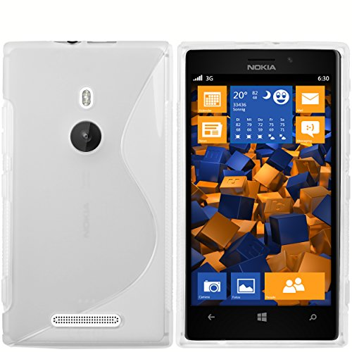 mumbi S-TPU Schutzhülle für Nokia Lumia 925 Hülle transparent Weiss