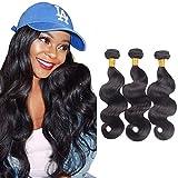 Tissage Naturel Pour Cheveux Bresilien en lot 3 tissage boucle naturel cheveux humain Ondulé Tissage boucle naturel (8 8 8 Inch)