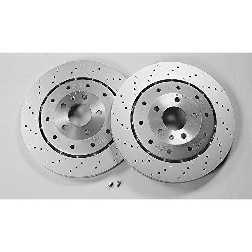 Original Audi Bremsscheiben RS6 (C6 4F) Bremsen Hinterachse 1KJ belüftet gelocht 4F0615601H