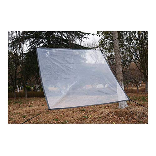AGLZWY Clear Tarp, Heavy Duty PVC Waterproof Tarpaulin Dust-proof Rainproof Sheet Greenhouse Cover With Eyelet, 24 Sizes (Color : Clear, Size : 4x10m)