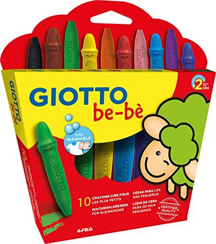 Giotto be-bè 479200 - Estuche de 10 maxi ceras para los más pequeños