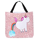 Mr. & Mrs. Panda XXL, Strandtasche, Shopper Einhorn Pupsend - Farbe Glitzer Rosa