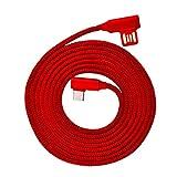 L-Line 1,2 m / 1,8 m 90 Grados Cable de Carga rápida Tipo L Cable USB Tipo C con indicador LED Trenzado de Nailon Cable Tipo C para Dispositivos USB C