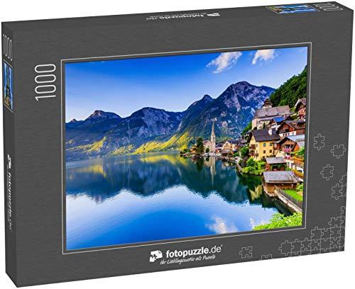 fotopuzzle.de Puzzle 1000 Teile Hallstatt, Österreich. Bergdorf in den österreichischen Alpen bei Sonnenaufgang