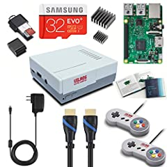 Includes the Raspberry Pi 3 Model B 1.2GHz 64-bit quad-core ARMv8 CPU, 1 GB RAM 802.11n Wireless LAN, 10/100Mbps Lan Speed Great Retro Gaming look and feel--Includes 2 Classic USB Gamepads (Vilros V2.0) & Retrogaming Case with ease of access to all P...