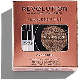 Makeup Revolution Glitter Eyeshadow, Flawless Foils Eyeshadow, Face Make Up, Liquid Eye Shadow, Overcome, Long Lasting Ric...