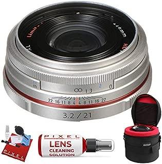 Pentax HD Pentax DA 21mm f/3.2 AL Limited Lens (Silver) with Heavy Duty Lens Case