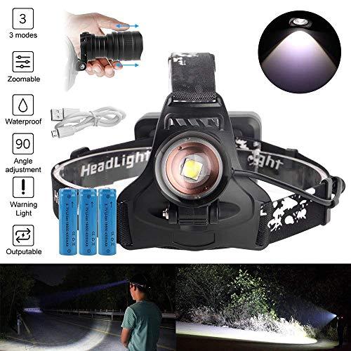chuanghong XPH50 Projecteur LED Zoomable 3-Mode Phare Chargeur USB 18650 Batterie Tête Lampe De Poche Chasse Lampe De Poche Power Bank