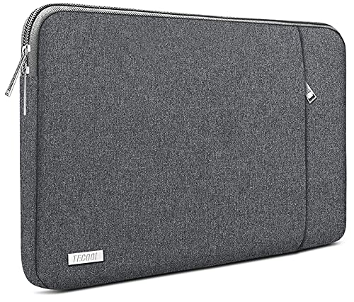 TECOOL 14 Zoll Laptoptasche Notebook Hülle Tasche Sleeve Hülle für HP Stream EliteBook 14, Lenovo IdeaPad ThinkPad 14, Acer Aspire Chromebook 14, Dell Inspiron 14, Dunkelgrau