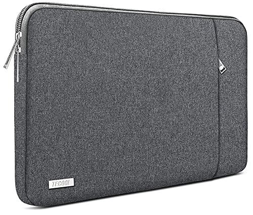 TECOOL Funda Portátil de 14 Pulgadas, Bolso Protectora Acolchada Funda Blanda para 14'' Lenovo HP Acer ASUS DELL Ordenador Tablets y MacBook Pro 15 (2016-2019), 15'' Surface Laptop 3, Gris Oscuro