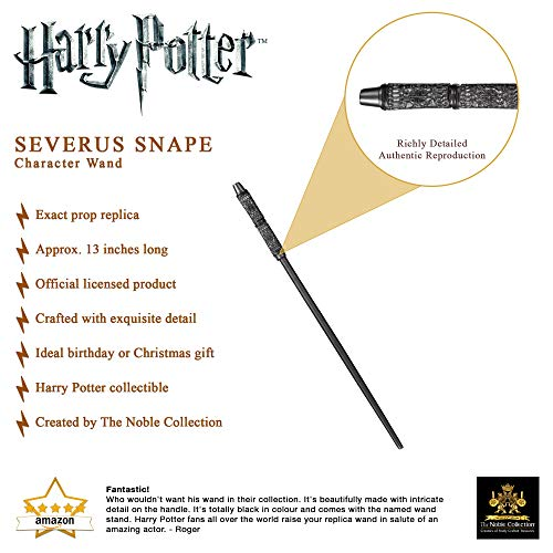 The-Noble-Collection-Professor-Severus-Snape-Character-Wand-13in-335cm-Harry-Potter-Wand-With-Name-Tag-Harry-Potter-Film-Set-Movie-Props-Wands