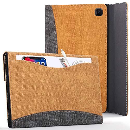 FC Funda para Samsung Galaxy Tab S6 Lite - Galaxy Tab S6 Lite 10.4 Funda para Documentos con S Pen Soporte - Marrón - Auto Sueño Estela, Samsung Galaxy Tab S6 Lite 10.4 Pulgadas Funda Case Cover
