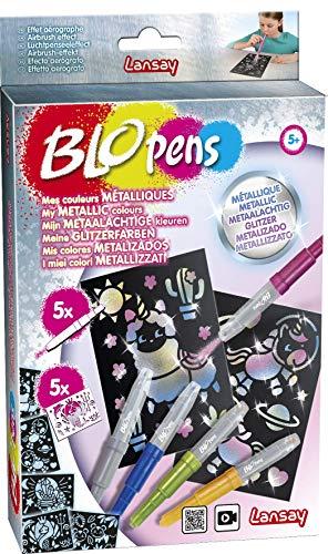 BloPens- Ocio Creativo – Bolígrafo metálico – Rotuladores fantásticos – Juego para niños – A Partir de 5 años, Multicolor (LANSAY 23604)