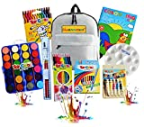 Kit de mochila Artista Niño Innovador Set de arte profesional 75 Piezas Accesorios Colores no tóxicos y lavables X Dibujar pintura Colorante completo y creativo Idea de regalo X Viaje escolar a casa