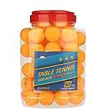 Pelotas de ping pong, 60 piezas de pelota de tenis de mesa de 3 estrellas con caja para adultos Torneos de ping pong para niños, juegos de carnaval, competencia, entrenamiento, entretenimiento(Orange)
