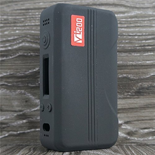 Silicone Case for HCigar VT200 Sleeve VT 200 DNA 200 Box Mod Skin Wrap Cover (Black)