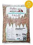 Pellet Falò scuro 100% legno - Pellet stufa qualità DIN/EN PLUS A1 - Alto potere calorifero (40)