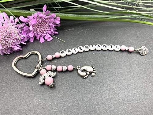 Schlüsselanhänger PATENTANTE, Schlüsselanhänger Taufpate, Geschenk für Pate, Schlüsselanhänger Baby
