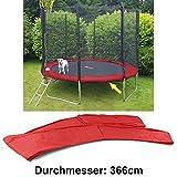 Sunflower 38314 Sicherheits Schutz Rand Abdeckung für Trampolin Sprungfedern 366 CM Rot