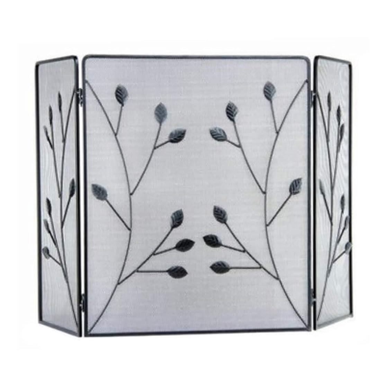 凍結子カトリック教徒暖炉スクリーン ヨーロピアンスタイルの3倍ネットでリムーバブルリビングルーム暖炉のドア、錬鉄黒い暖炉スクリーンパーティション、47.2を×27.5inch