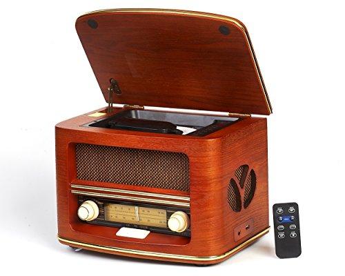 Camry Retro - Radio (USB, Lector de CD), marrón