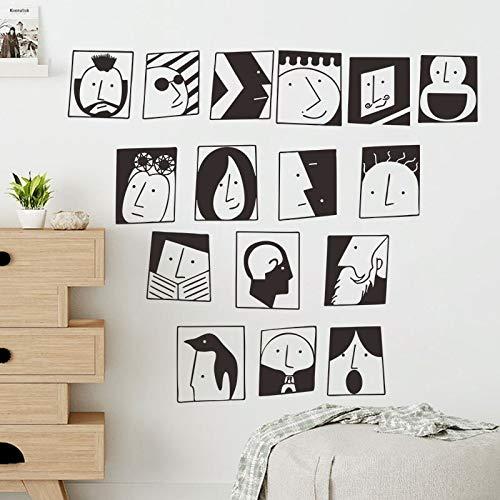 yaonuli Dibujos Animados Egipcio Cara Cultura decoración del hogar habitación de los niños Impermeable Etiqueta de la Pared calcomanía decoración de la Sala wallpaper57X62cm