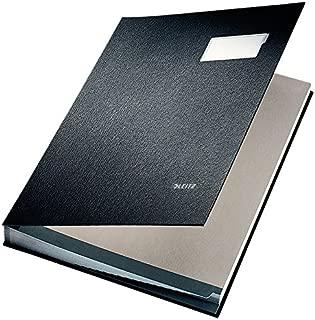 Leitz Signature Book 20 Compartments Durable Blotting Card 340x240mm Black Ref 5700-00-95