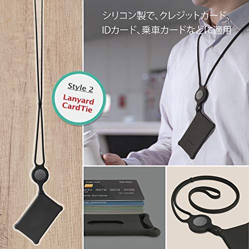 BoneCollectionスマホネックストラップハンドストラップセットPhoneTieComboGift(ブラック(カード+スマホ))