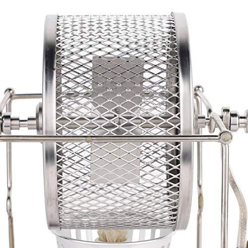 Material 1 pieza Mini máquina manual tostadora de granos de café DIY pequeña máquina para hornear de rodillos de acero inoxidable rodillos de bricolaje con mango para cocina