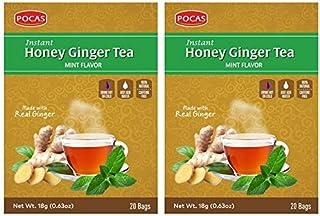 POCAS HONEY GINGER TEA WITH MINT 40 SACHETS