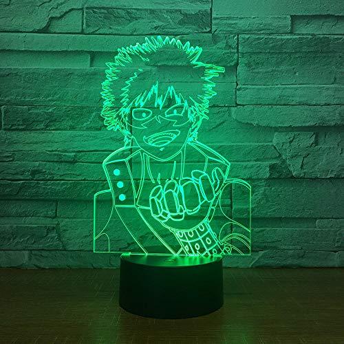 Naruto 7 Farbwechsel 3D LED Visualización Anime figura Nachtlicht niños Touch Button USB Tischlampe Home Decor iluminación regalo
