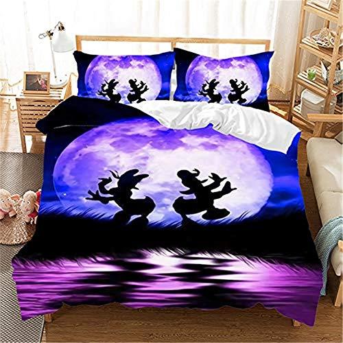 Probuk Ropa de cama infantil de Disney Donald Duck, 100 % microfibra, funda nórdica para niña, adolescente, funda de almohada (A-08,220 x 240 cm (80 x 80 cm)