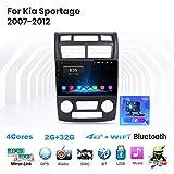 Android 9.0 Car Stereo Radio Sat Nav Double DIN para Kia Sportage 2007-2012 Navegación GPS Pantalla...