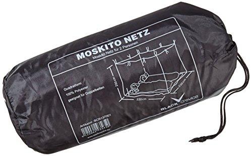 Black Crevice Moskitonetz I Doppelbett-Moskitonetz I Mückennetz aus feinmaschigem Gewebe I Outdoor-Moskitonetz in Quadratform I Reise-Mückennetz inkl. 8 Aufhängeringe I 220x200x200cm