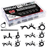 Hilitchi 56 Pcs Automotive Wire Harness Routing Clip Assortment Kit with 6 Different Sizes Wire Loom Routing Clips for Honda GM Mazda