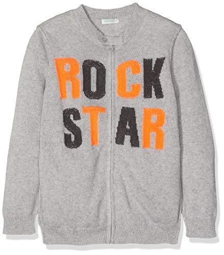United Colors of Benetton Baby-Jongens Cardigan Zip Maglia Pullover Rock Star Fluo gebreide jas