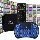 YP TV Box Android 10 4K WiFi HD Smart TV Box 2 Ram 16GB ROM Idioma en Español con Mando a Distancia por Infrarrojos & 1M Cable HDMI & Teclado Inalámbrico Admite TF Card y U Disco