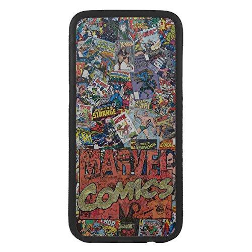 afrostore Funda Carcasa de móvil para Apple iPhone 7 Logos Comic Marvel TPU Borde Negro