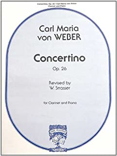 By Carl Maria Von Weber Concertino Op 26, Clarinet and Piano [Paperback]