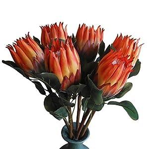 Qingriver 6 Pcs 68 cm Large Artificial Protea Cynaroides Flowers Plants for Home Garden Decor