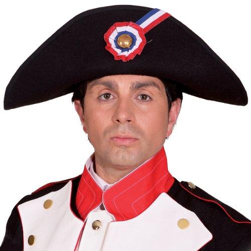 WOOOOZY Hut Napoleon, schwarz, Einheitsgröße