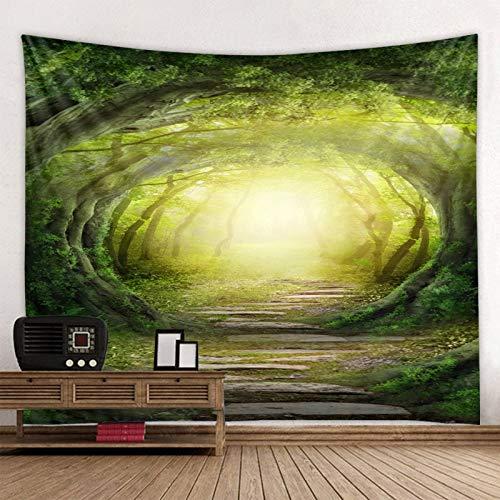 Cueva Bosque Mandala Tapiz indio Montaje en pared Estera de yoga bohemia Alfombra de playa Manta Tela de fondo A2 150x200cm