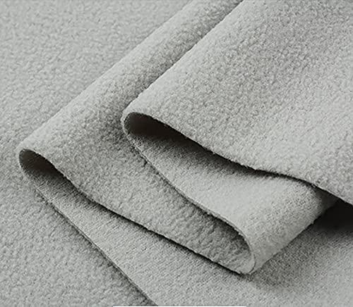 Yimihua Tela De Vellón Cómodo Tejido Polar Fleece Terciopelo Tela De Felpa para Coser Bricolaje Tela de Fondo Hecha a Mano.Ancho 160 CM (Medio Metro)(Color:Gris Claro)