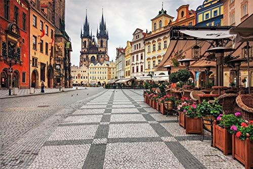 Rompecabezas Para Adultos, 500 Piezas, Rompecabezas De Madera, Centro De La Ciudad De Praga, Muy Buen Juego Educativo