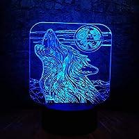 新しいフルムーンナイトハウルウルフ3DランプLed Usbタッチテーブルナイトライト多色溶岩Rgb照明発光クリスマスギフト