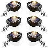 JSOT Lampe Solaire Extérieure - Lampes Solaires de Jardin 9 LED Gaze Solaire...